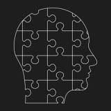 Black outline human profile Stock Photo