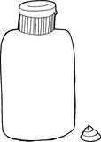 Black Outline Lotion Stock Images
