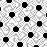 Black Outlined Dots. Background pattern of large black polka dots with outlines Stock Image