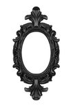 Black oval frame Royalty Free Stock Images