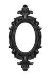Black oval frame. Vintage black ornate frame isolatedo on white royalty free stock images