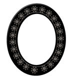 Black Oval Picture Frame 3D Royalty Free Stock Photos