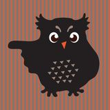 Black owl Stock Photos