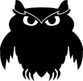 Black owl Royalty Free Stock Photography