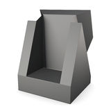 Black packaging carton box. 3d rendering Stock Photography