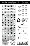 89 black Packing Symbols Stock Images