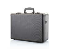 Black padded aluminum briefcase Royalty Free Stock Photography
