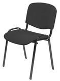 Black padded chair Stock Photos