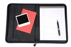 A black padfolio Stock Photo