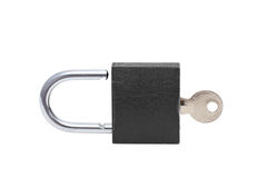 Black padlock Stock Photos