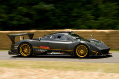 Black pagani zonda r. On track at goodwood festival of speed Stock Photos