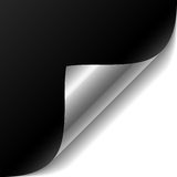 Black page corner. Vector illustration of a black paper with curled corner Royalty Free Stock Images