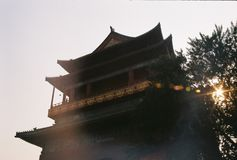 Black Pagoda Near Tree during Day Time Stock Image