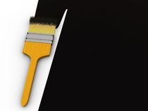 Black paint stock illustration