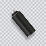 Black Paint Aerosol Spray Metal Bottle Can, Graffiti, Deodorant, Household Chemicals, Poison. Vector Illustration. Black Paint Aerosol Spray Metal 3D Bottle Can royalty free illustration