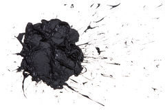 Black paint blot . Stock Photo