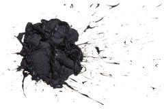 Black paint blot . Stock Photo