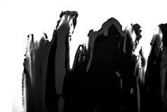 Black paint brush spot stroke on white. Black paint brush spot stroke on isolated white background stock illustration