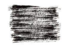 Black paint brush strokes Stock Image