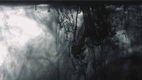 Black paint drops in the water stock video footage