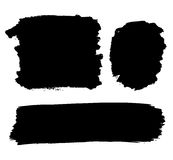 Black paint forms Royalty Free Stock Photo