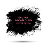 Black paint, ink brush strokes, brushes, lines. Dirty artistic. Design elements, boxes, frames for text Stock Photography