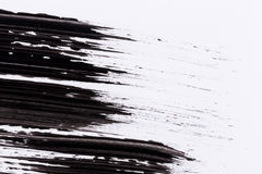 Black paint isolated on white background Royalty Free Stock Photography