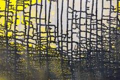 Black paint leak drips grid frame Royalty Free Stock Photo