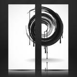 Black Paint Splashes Circle. Stock Image