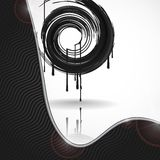 Black Paint Splashes Circle. Royalty Free Stock Photos