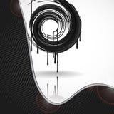 Black Paint Splashes Circle. Royalty Free Stock Photos
