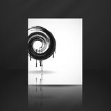 Black Paint Splashes Circle. Stock Photo