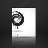Black Paint Splashes Circle. Vector Illustration. Eps 10 vector illustration