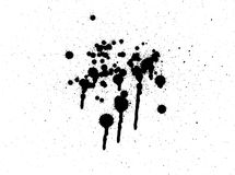 Black paint splatter Stock Image