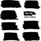 Black paint spots vector set Royalty Free Stock Image