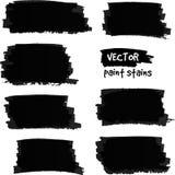 Black paint spots vector set Royalty Free Stock Image