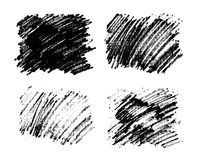 Black paint stains overlay vector texture Stock Photography