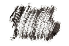 Black paint strokes Stock Images