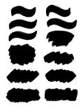 Black paint strokes Stock Image