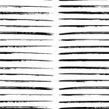Black paint strokes seamless pattern Stock Images