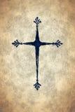 Black painted cross Stock Image