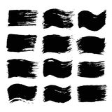 Black Painted Flags and Backgrounds Stock Photos
