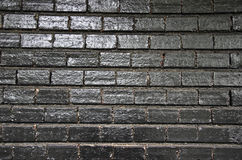 Black painted wall Royalty Free Stock Photography