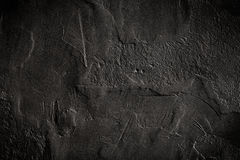Black painted wall texture background Stock Image