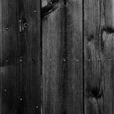 Black painted wood wall - texture or background Royalty Free Stock Photography