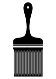Black painting brush, vector graphic Stock Image