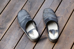 Black pair of clogs Royalty Free Stock Photography