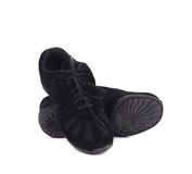 Black pair of dance shoes. Stock Images