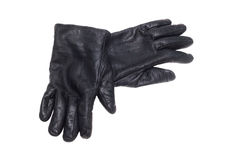Black pair leather gloves Royalty Free Stock Image