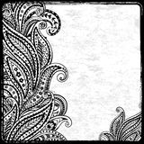 Black paisley frame Stock Photography